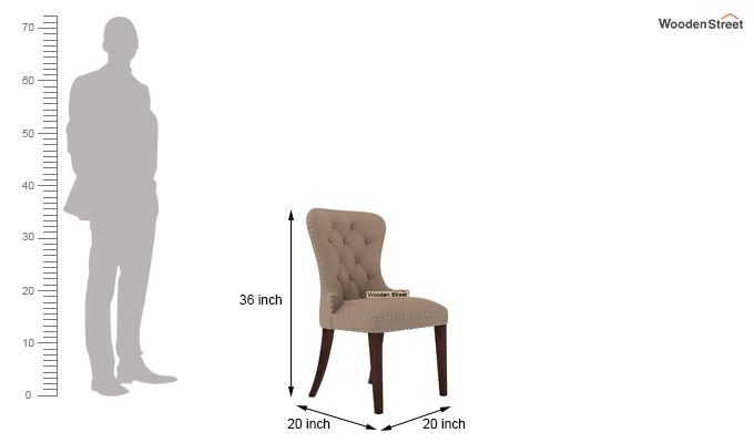 Lenox Restaurant Chair (Walnut Finish, Irish Cream)-4