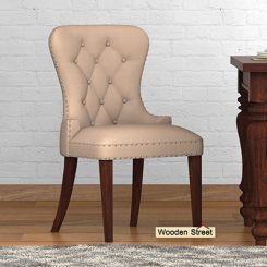 Lenox Dining Chair (Walnut Finish, Irish Cream)