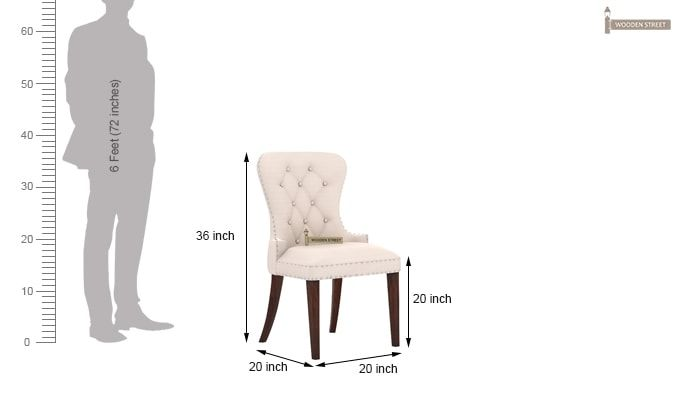 Lenox Dining Chair (Ivory Nude)-4