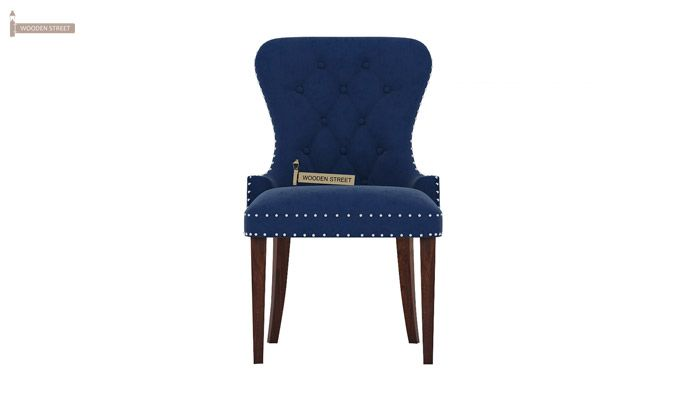 Lenox Dining Chair (Velvet, Night)-2