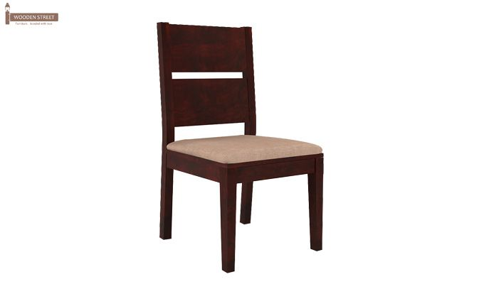 Lisa Dining Chair With Fabric (Mahogany Finish)-1