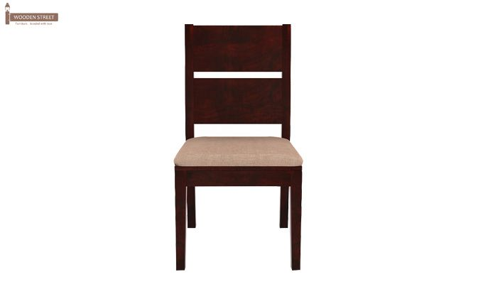 Lisa Dining Chair With Fabric (Mahogany Finish)-2