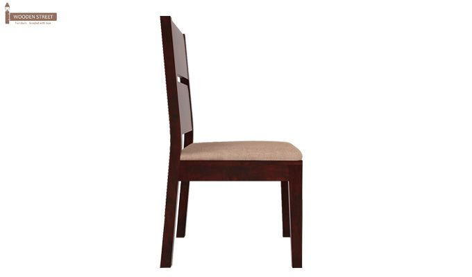 Lisa Dining Chair With Fabric (Mahogany Finish)-3