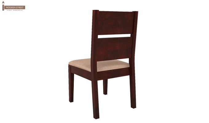 Lisa Dining Chair With Fabric (Mahogany Finish)-4