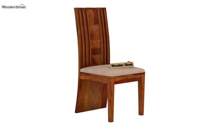 Morse Dining Chair With Fabric (Honey Finish)-1