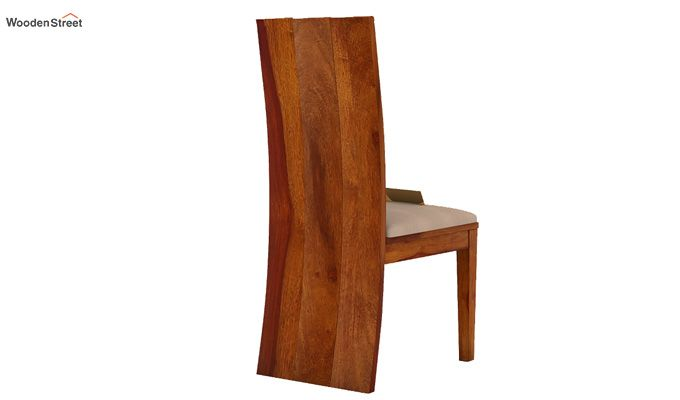 Morse Dining Chair With Fabric (Honey Finish)-3