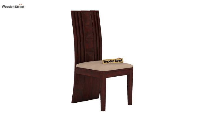Morse Dining Chair With Fabric (Mahogany Finish)-2
