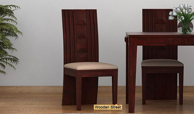 Morse Dining Chair With Fabric (Mahogany Finish)-1