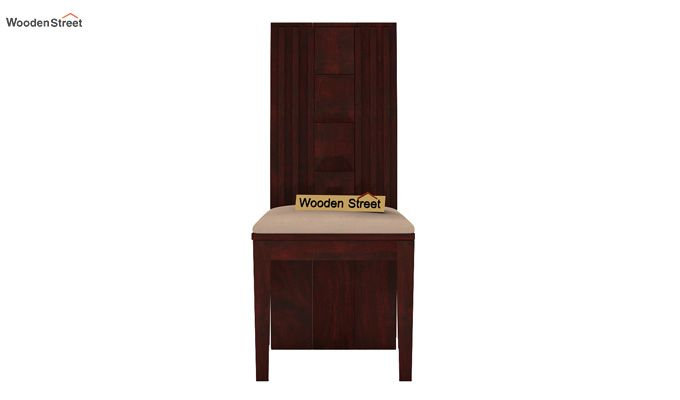Morse Dining Chair With Fabric (Mahogany Finish)-3