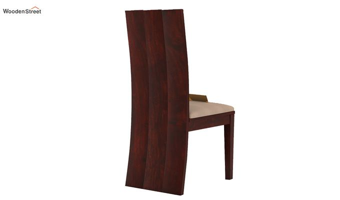 Morse Dining Chair With Fabric (Mahogany Finish)-4