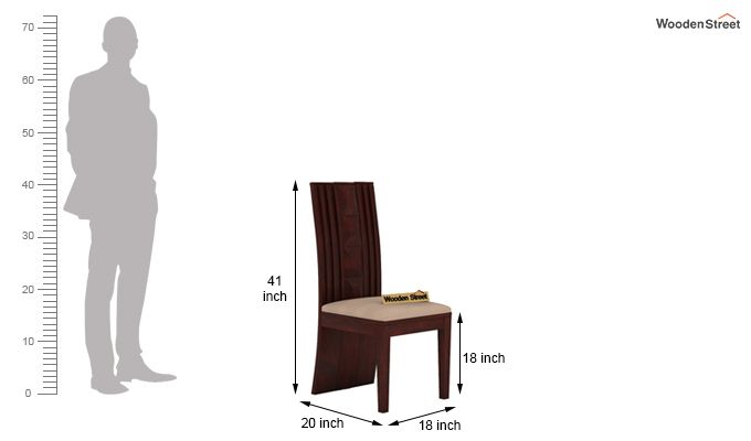 Morse Dining Chair With Fabric (Mahogany Finish)-5
