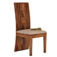 Morse Dining Chair With Fabric (Teak Finish)