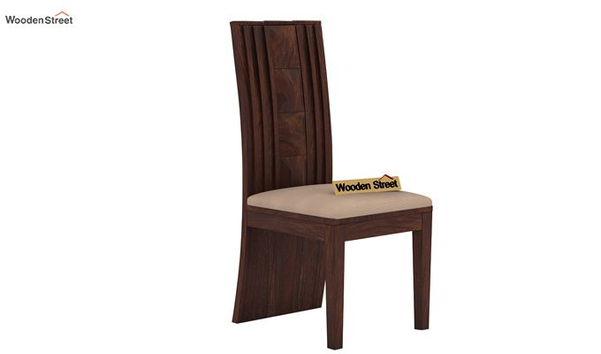 Morse Dining Chair With Fabric (Walnut Finish)-1