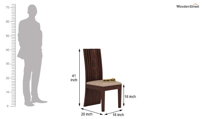 Morse Dining Chair With Fabric (Walnut Finish)-4
