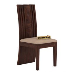 Morse Dining Chair With Fabric (Walnut Finish)