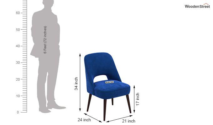 Mozza Dining Chair ( Walnut Finish)-4