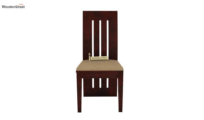 Nancy Fabric Dining Chair (Mahogany Finish)-3