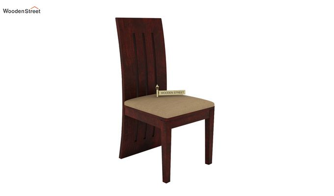 Nancy Fabric Dining Chair (Mahogany Finish)-2