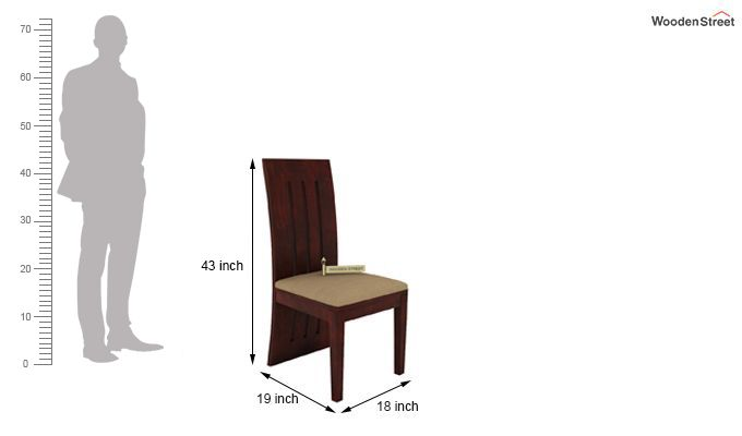 Nancy Fabric Dining Chair (Mahogany Finish)-4