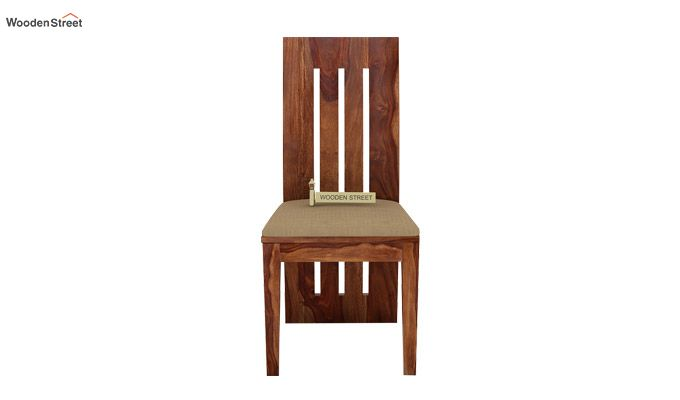 Nancy Fabric Dining Chair (Teak Finish)-2