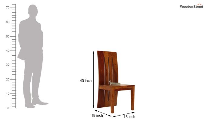 Nancy Dining Chair without Fabric (Honey Finish)-3
