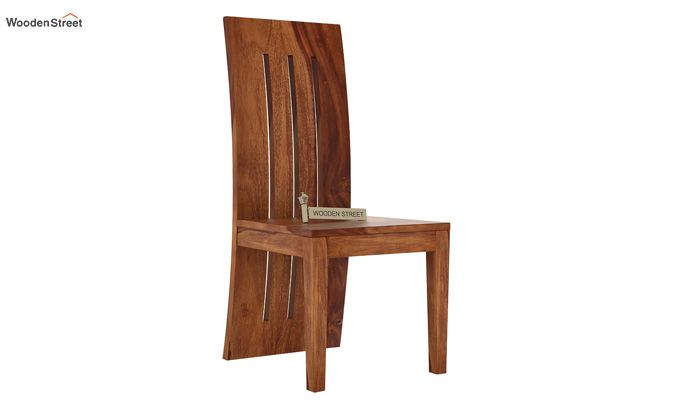 Nancy Dining Chair without Fabric (Teak Finish)-1