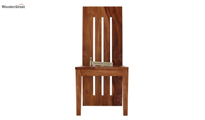 Nancy Dining Chair without Fabric (Teak Finish)-2
