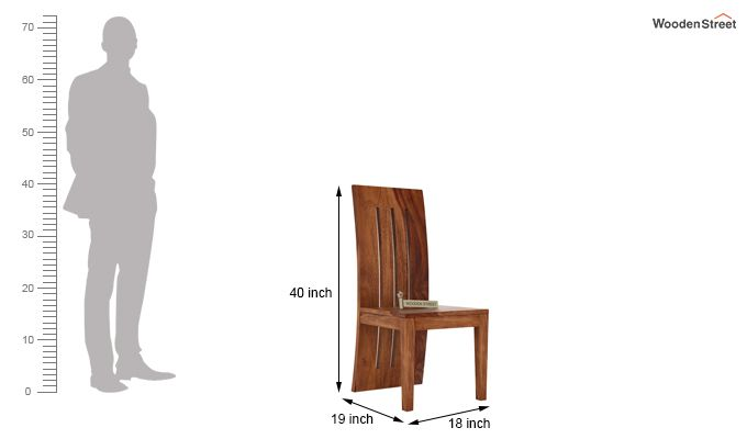 Nancy Dining Chair without Fabric (Teak Finish)-3