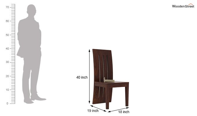 Nancy Dining Chair without Fabric (Walnut Finish)-3