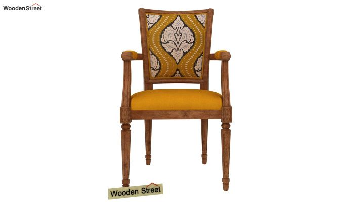 Orchid Arm Chair (Yellow Blush, Mustard Coral)-3