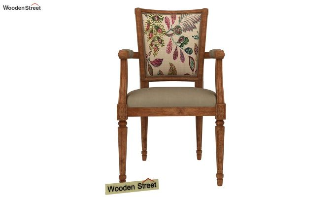 Orchid Arm Chair (Irish Cream, Rosy Leaf)-3