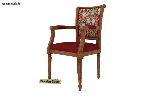 Orchid Arm Chair (Dusky Rose, Scarlet Blue)-2