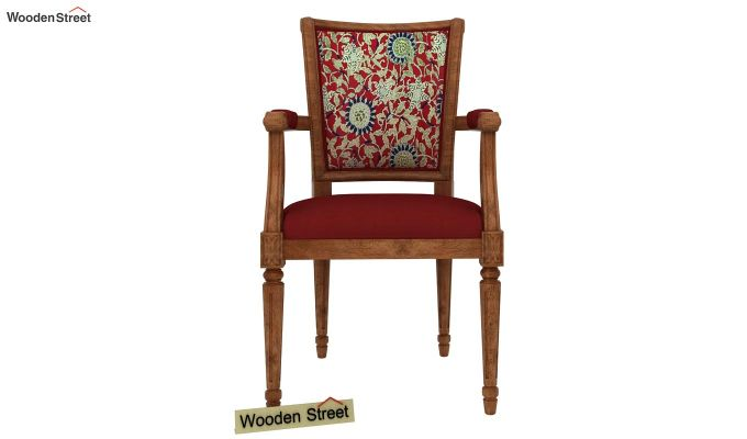 Orchid Arm Chair (Dusky Rose, Scarlet Blue)-3