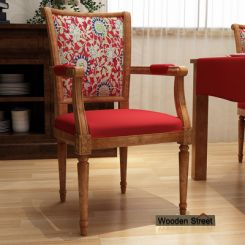 Orchid Arm Chair (Dusky Rose, Scarlet Blue)