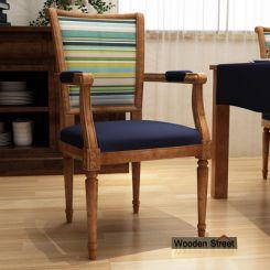 Orchid Arm Chair (Indigo Ink, Striped Smurf)