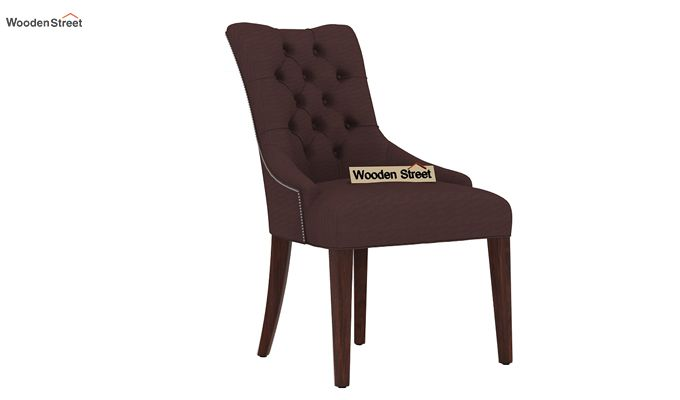 Perry Dining Chair (Walnut Finish, Classic Brown)-1