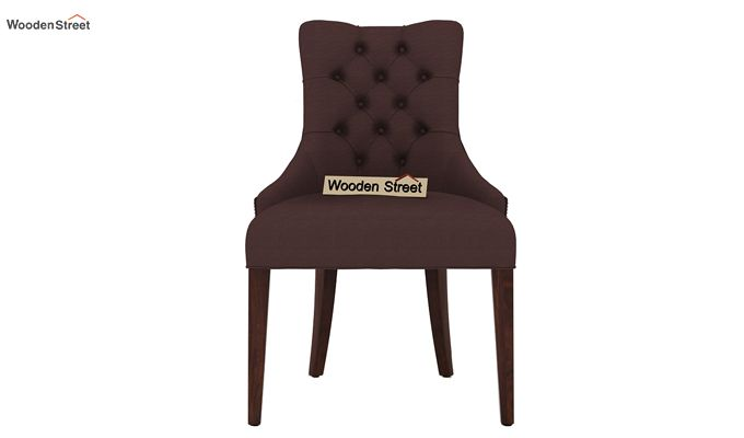 Perry Dining Chair (Walnut Finish, Classic Brown)-2
