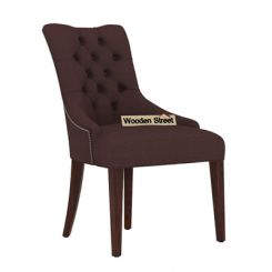 Perry Dining Chair (Walnut Finish, Classic Brown)