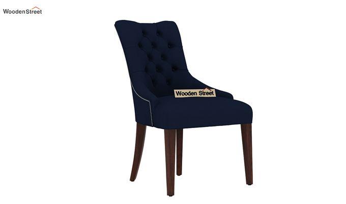 Perry Dining Chair (Walnut Finish, Indigo Ink)-1