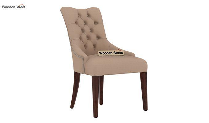 Perry Dining Chair (Walnut Finish, Irish Cream)-1