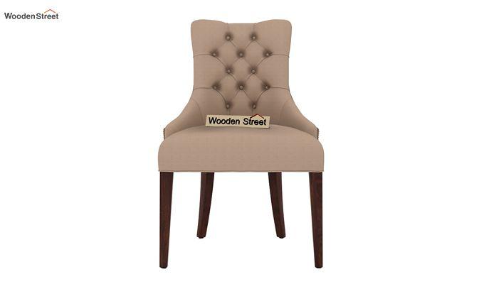 Perry Dining Chair (Walnut Finish, Irish Cream)-2