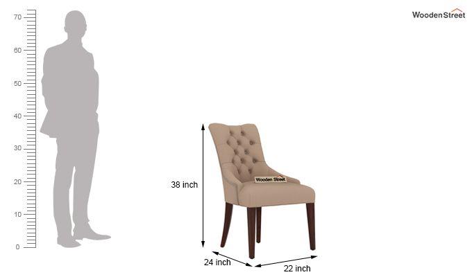 Perry Dining Chair (Walnut Finish, Irish Cream)-3