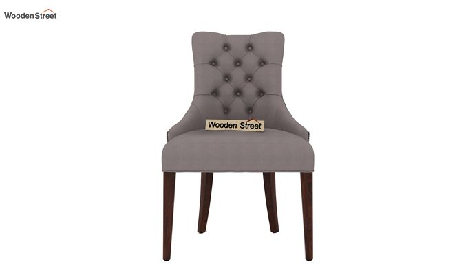 Perry Dining Chair (Walnut Finish, Warm Grey)-2