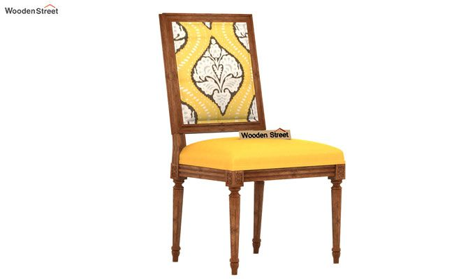 Shell Without Arm Dining Chair (Mustard Coral)-2