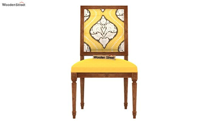 Shell Without Arm Dining Chair (Mustard Coral)-3