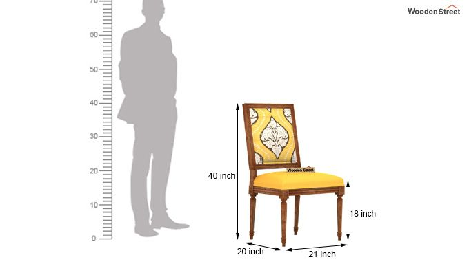 Shell Without Arm Dining Chair (Mustard Coral)-4
