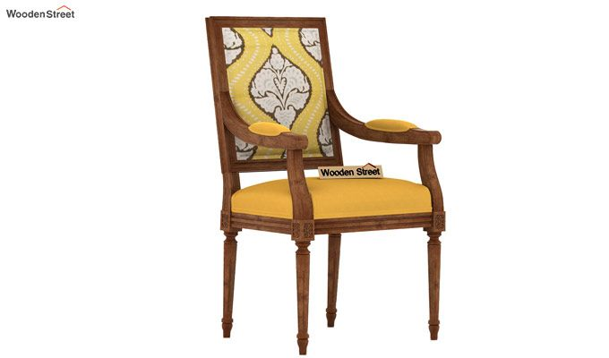 Shell Arm Chair (Mustard Coral)-2