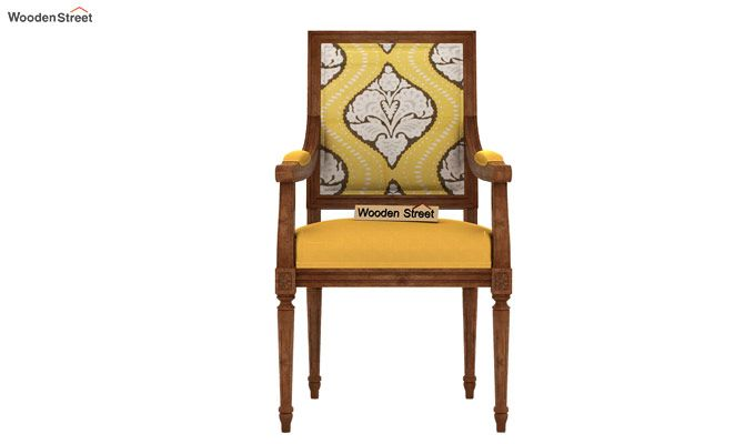 Shell Arm Chair (Mustard Coral)-3