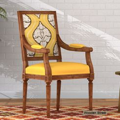 Shell Arm Chair (Mustard Coral)