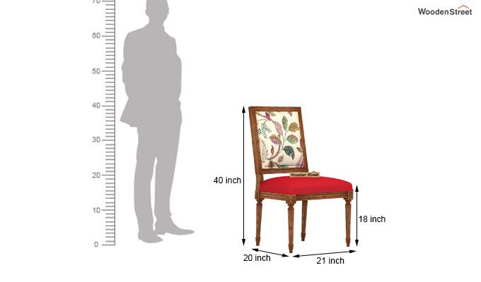 Shell Without Arm Dining Chair (Rosy Leaf)-4